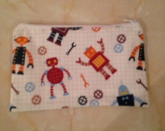 Robot fabric pencil case,