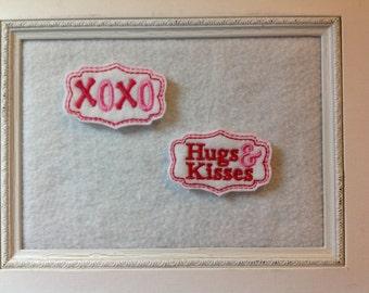 Valentine Feltie, Kisses,  Hugs Felties , always precut