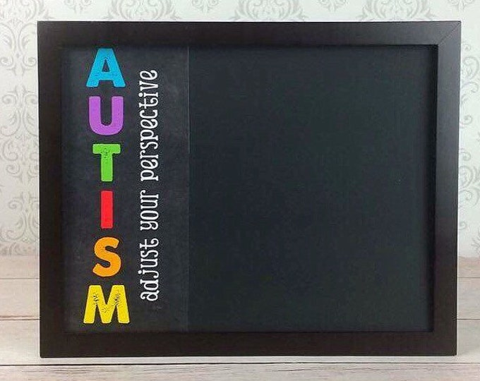 Classroom Organization - Autism Awareness - Special Needs - Teacher gift - Classroom chalkboard - Magnetic chalk board - Framed Chalkboard