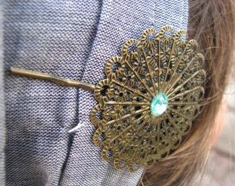 Special occasion bronze bobby pin,resin flower bobby pin,tichel accesory,hair pin,hair accesories