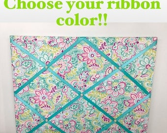 Floral French Memo Board Choose your ribbon color! Floral Memo Board