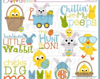 easter clipart, easter clip art, easter monogram, easter bunny clipart, easter chicks clipart, easter lettering, spring clipart