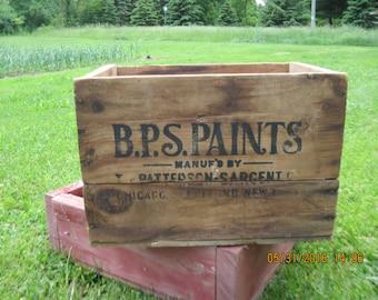 B.P.S. PAINTS Wood Crate Vintage Wood Crate