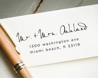 Self Inking Address Stamp, Modern Hand Calligraphy Font, Custom Rubber Stamp, Custom Stamp, Personalized Stamp, Custom Return Address Stamp