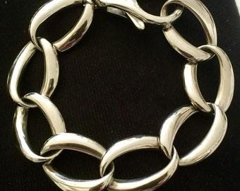 Bracelet XO, has steel big links