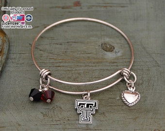 Texas Tech Red Raiders Memory Wire Bracelet