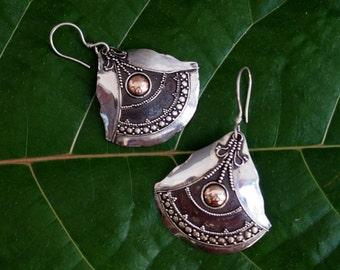 Vintage Balinese Sterling Earrings