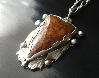 Woodward Ranch Moss Agage pendant by Muse Road