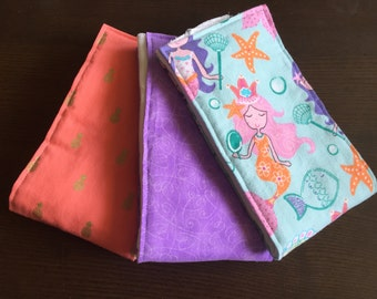Baby girl cloth diaper burp cloths