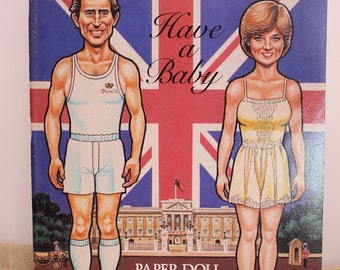 Chuck and Di Have a Baby Paper Doll and Cut-Out Book 1982