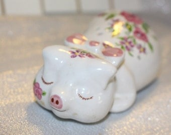 Pig Air Freshener or Potpourri holder Exclusive Hand Decorated Avon Design Ceramarte