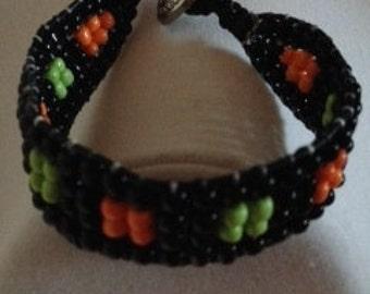 Halloween Triple Row Wrap Bracelet
