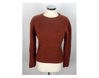Daniel Hechter Womens Jumper Sweater XL Brown Mohair Nylon Wool