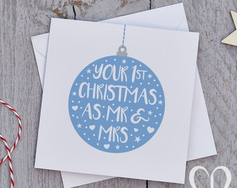 Newly Weds Christmas Card – Bauble