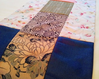 Silk Bed Runner, Kimono Foot Throw