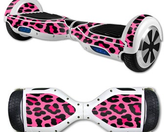 Skin Decal Wrap for Self Balancing Scooter Hoverboard unicycle Pink Leopard