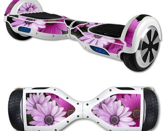 Skin Decal Wrap for Self Balancing Scooter Hoverboard unicycle Purple Flowers