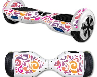 Skin Decal Wrap for Self Balancing Scooter Hoverboard unicycle Swirly Girly