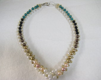 Handmade Faux Pearl Necklace