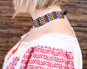 Traditional Romanian necklace choker