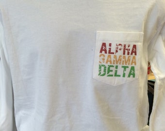 Alpha Gamma Delta Digital Distressed Tshirt!
