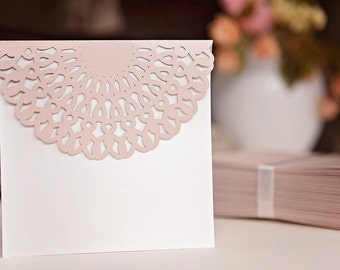 Set of wedding invitations
