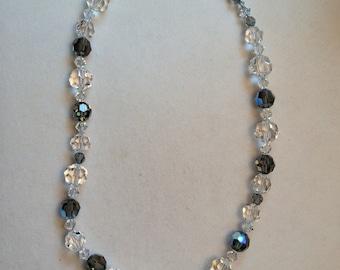 Crystal black diamond necklace