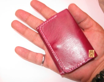 Leather Credit card case, Credit Card Wallet, Tiny Wallet, Minimalist Wallet