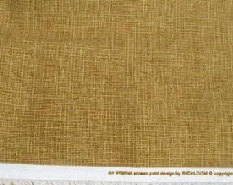 CLEARANCE DESTASH SALE Decorating Fabric / Richloom Fabrics / One Yard / Weave Look Fabric / Brown / Gold  / Basket  Weave Design