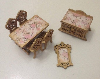 dollhouse wooden furniture