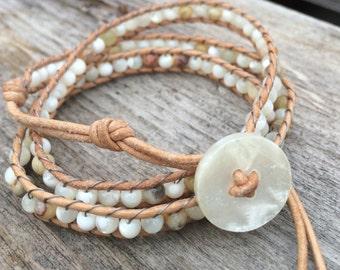 Hand Woven Beaded Wrap Bracelet