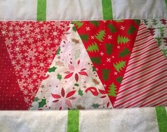 Red & Green Christmas Tree Runner