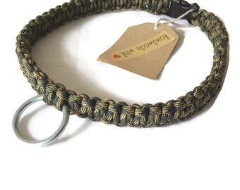 Camo Dog Collar - Paracord, Handmade Puppy Collar
