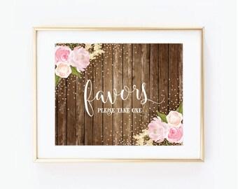 Printable Wedding Sign - Wedding Favors - Country Chic - Fall Wedding - Rustic Wedding - Wedding Favors Sign - Printable Favors Sign #CL129