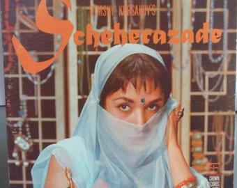 Scheherazade, Nicholas Rimsky Korsakov, Vintage Record Album, Vinyl LP, The Vienna Symphony Orchestra, Arabian Knights Folk Story
