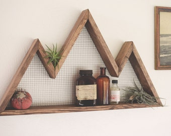 Mountain Wall Art Shelf Mountain Home Decor Wall Hanging Wall Shelf