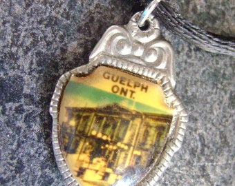 GUELPH - Pendant, Jewelry, Vintage Pendant, Guelph Pendant, Repurposed, Ontario,  Royal City, Spoon Jewelry, Vintage Spoon, Charm, Kitsch