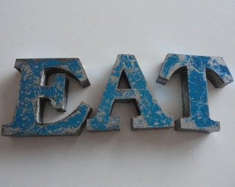 Fantastic retro 3 dimensional lettering 'EAT' SB