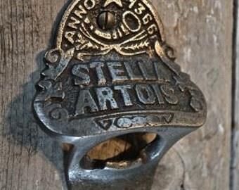 Fantastic Stella Artois beer bottle top remover bottle cap bottle opener bar man cave wall mounted cast iron