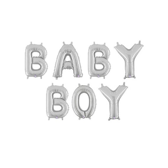 baby boy letter balloons silver gender reveal balloons silver baby boy shower letter balloons