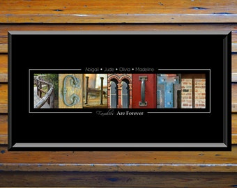 Personalized Last Name Wall Decor - Alphabet Photograph - Custom Name Print - Personalised