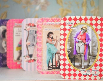 Diva Greeting Card: Spanx I'd never leave the house without them