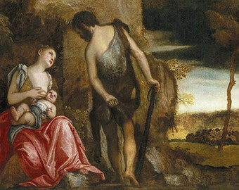 Veronese: Cain and His Family Wandering. Fine Art Print/Poster. (002010)