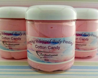 Cotton Candy Foaming Body Frosting, Whipped Soap
