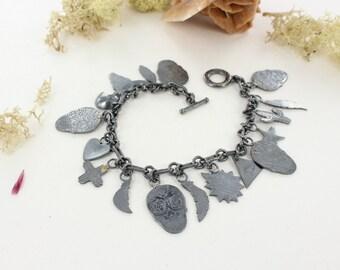 Sugar skull bracelet - Skull bracelet- Dia de la muerte - Mexican skull bracelet - Handmade