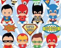 Brown skin Superhero baby clipart, Super baby, Baby boys clipart