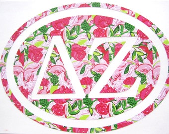 Delta Zeta Sticker Decal Sorority - Great Initiation, Bid Day or Big Little Gift!
