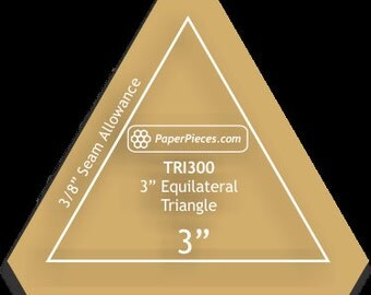 Equilateral Triangle - Clear 3 inch Acrylic template