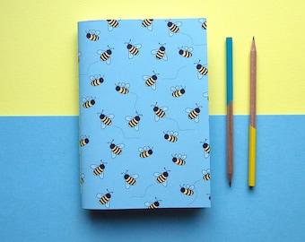A5 Carnet / abeille carnet / retour à la papeterie scolaire / mignon / exercice livre adorables pour ordinateur portable