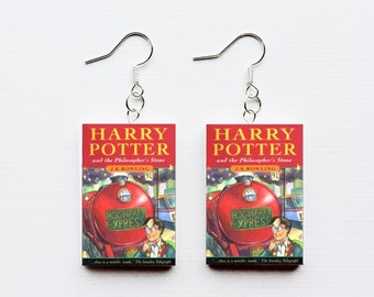 Harry Potter and the Philosopher's Stone mini book earrings